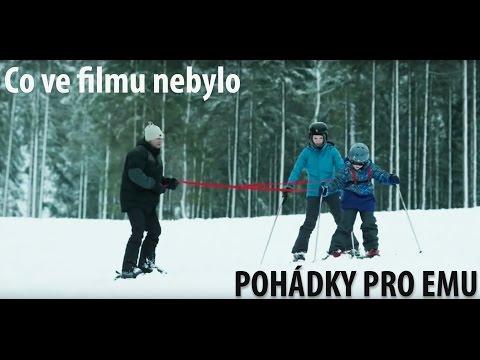 Co v komedii Pohádky pro Emu nebude! Podívejte se, jak si vedli herci na lyžích a kde má Aňa Geislerová jizvu!