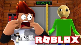 BALDI IS IN THE SCARY ELEVATOR! Roblox Gameplay