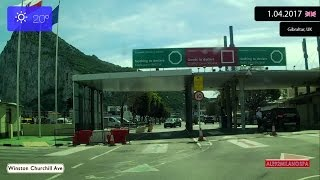Driving through Gibraltar (United Kingdom) 1.04.2017 Timelapse x4 Driving in United Kingdom . Driving in Great Britain . Gibraltar ...