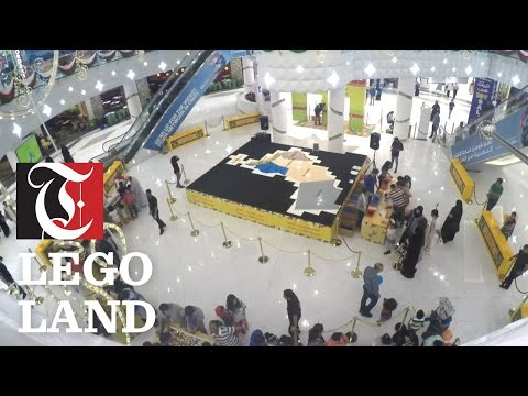 Two certified Lego master builders were brought in from the UK to help build the map of Oman.