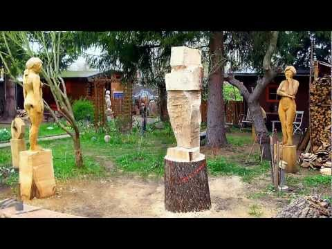 Vom Stamm zur Figur -  Entstehung einer Skulptur im Zeitraffer