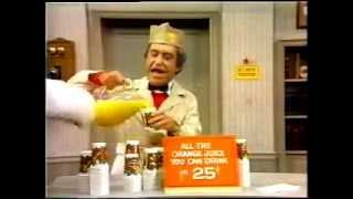 A classic clip featuring Soupy selling Orange juice for .25 a glass to White Fang.