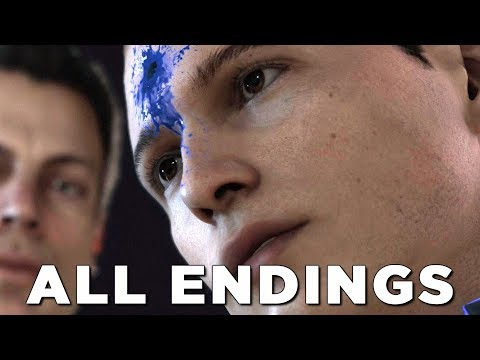 "DETROIT BECOME HUMAN ALL ENDINGS ""THE HOSTAGE"" Walkthrough Gameplay (PS4 Pro)"