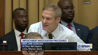 Rep. Jordan Criticizes Democrats for Impeachment