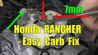 10. Honda Rancher Fourtrax: Carburetor Removal and Cleaning