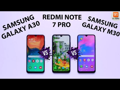 Samsung Galaxy M30 vs Samsung Galaxy A30 vs Redmi Note 7 Pro: Comparison overview [Hindi हिन्दी]