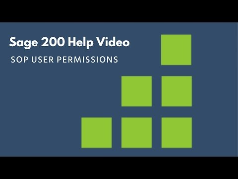 Sage 200 Help - SOP User Permissions