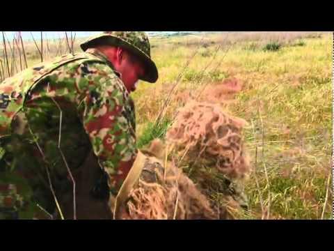 un militare si nasconde nel bosco: chi di voi lo vede dall'inizio?