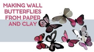 Making wall butterflies from paper - YouTube
