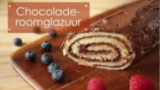 Chocolade-roomglazuur