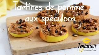 Tartines de pommes aux spéculoos