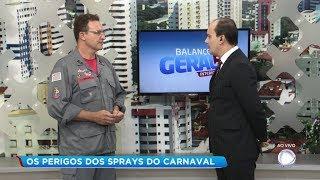 Espuma de carnaval precisa ser usada com cuidado para evitar acidentes
