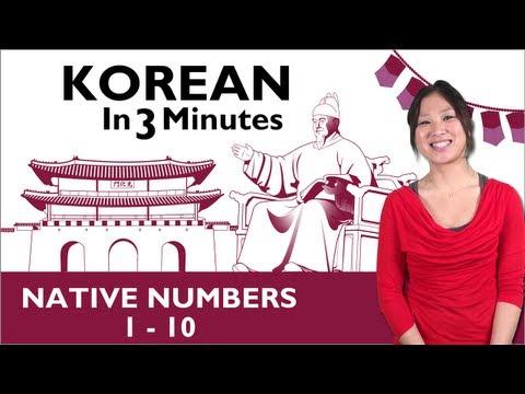 Koreanische Zahlen 1-10
