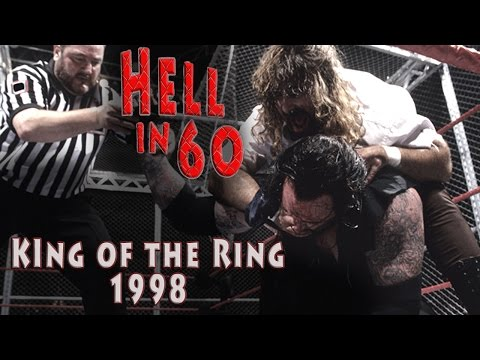mankind - Relive the legendary Hell in a Cell match between The Undertaker and Mankind from the 1998 edition of King of the Ring. In 60 seconds you will see all the destruction including camera angles...