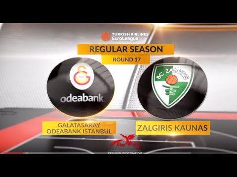 EuroLeague Highlights RS Round 17: Galatasaray Odeabank Istanbul 87-79 Zalgiris Kaunas