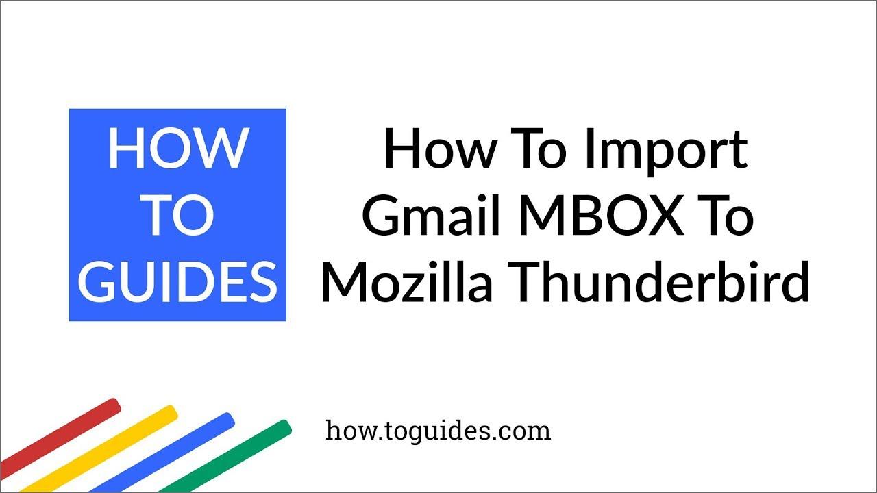 Import MBOX files to Thunderbird