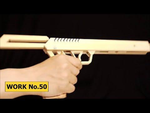Pull-Bolt-Release, 9 rounds Rubber Band Hand Gun/ oggcraft.jp