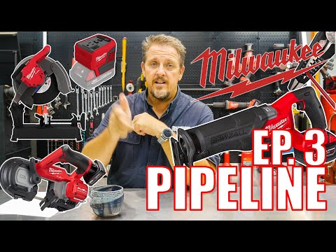 MORE NEW TOOLS!! Milwaukee Pipeline - Episode 3 [M18 CHOP SAW]