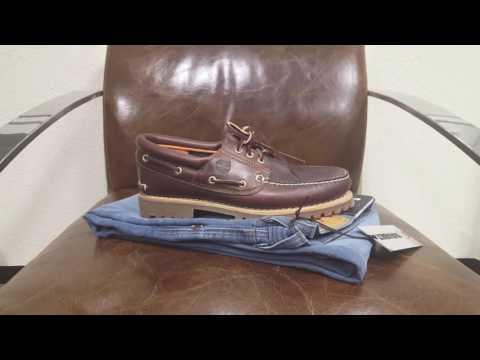 Timberland Heritage 3-Eye Schuhe Bootsschuhe DEUTSCH Haul   On Feet   Review   Outlet46.de