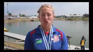 SK Račice 2016: Nikolina Moldovan posle osvajanja medalje u K2-500