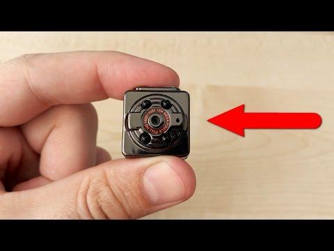 Шпионская мини камера SQ8 Снимал ночью и чуть не умер от страха! Детям не смотреть! (видео)