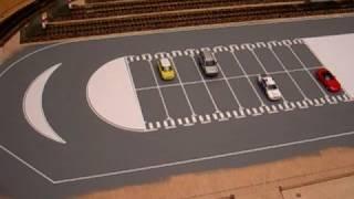 Zona d'aparcaments visibles que s'accionen manualment. Zona de aparcamientos visibles que se accionan manualmente.