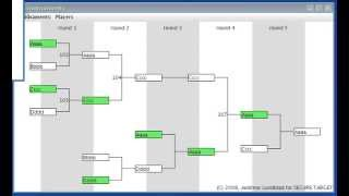 Double Elimination Tournament GUI Demo