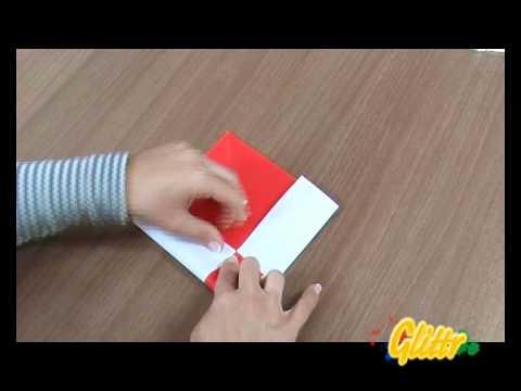Weihnachtsmann aus Papier falten