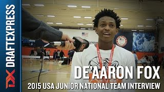 De'Aaron Fox 2015 USA Basketball Mini-Camp Interview