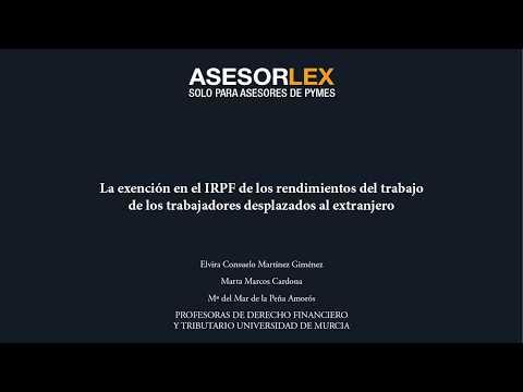 La exención en el IRPF de los rendimientos del trabajo de los trabajadores desplazados al extranjero