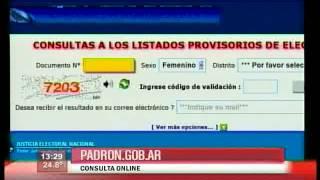padron electoral 2013 Desde Hoy Se Pueden Consultar Los Padrones Electorales Provisorios