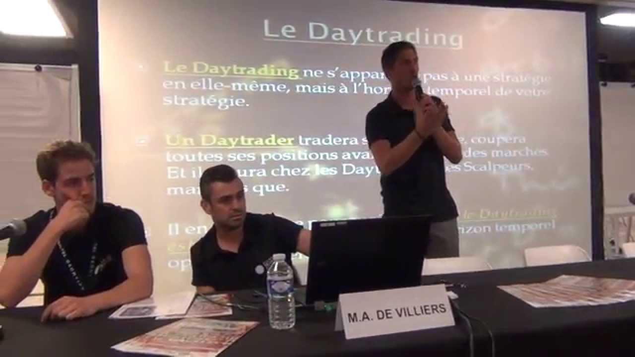 Conférence de Marc Antoine de Villiers au Salon du Trading 2014
