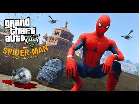SPIDER-MAN: HOMECOMING!! (GTA 5 Mods) (видео)