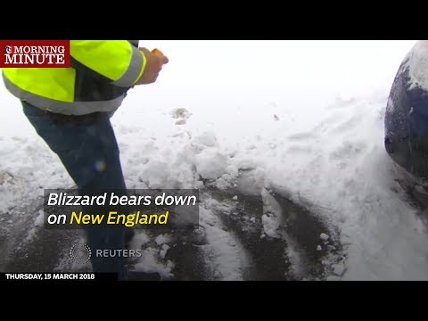 Blizzard bears down on New England