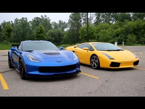 c7 corvette z06 vs lamborghini gallardo epic exhaust battle