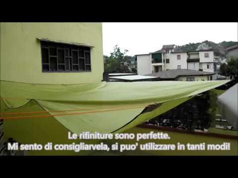 Tenda da campeggio parasole in poliestere impermeabile verde ODOLAND