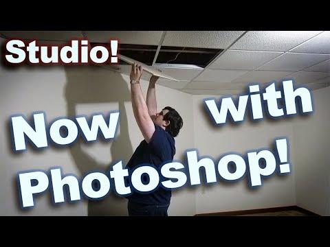 Let's Build a Studio! | Photoshop is easier than Wood Shop!
