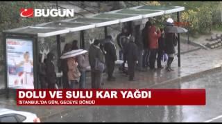 İstanbul'a Kar ve Fırtına Geri Döndü