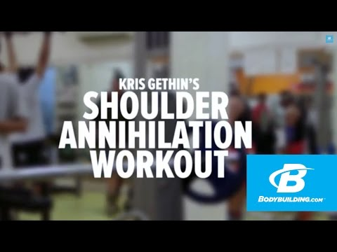 Kris Gethin's Shoulder Annihilation Workout – Bodybuilding.com