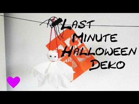 DIY Last Minute Halloween Deko selber machen Anleitung Tutorial | How To