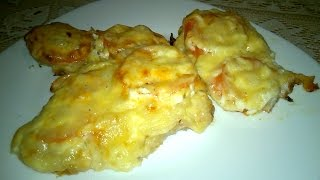 How to Bake Pork Chops in Oven. The most delicious recipe for pork chops with onion, tomato and cheese. Ingredients: Pork...