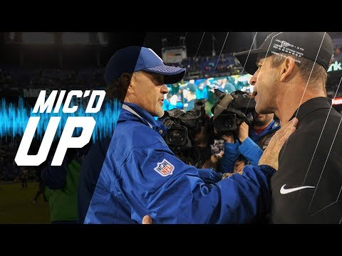 Video: John Harbaugh & Chuck Pagano Mic'd Up on Rainy Night | NFL Sound FX