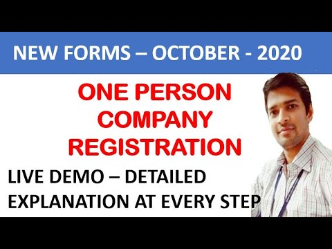 One Person Company Registration Process   How to register OPC   SPICE PLUS LIVE DEMO