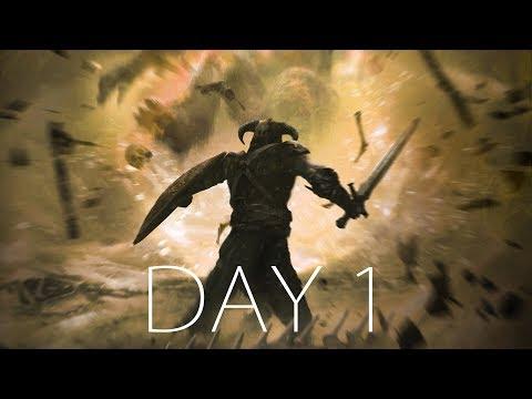 ПРЕОДОЛЕВАЯ ВСЕ СЛОЖНОСТИ ● SKYRIM HARD - Day 1