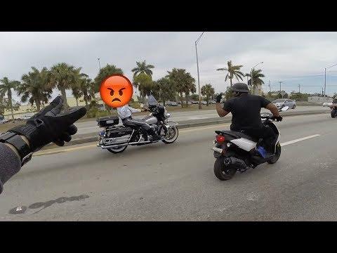 MOTORCYCLE COP JOINS STUNT RIDE