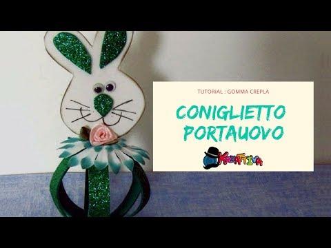 foamy - come creare un coniglietto porta uova