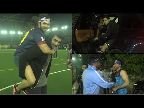 Ranbir Kapoor ,Varun Dhawan , Arjun Kapoor & Others Practice Football Match For Charity
