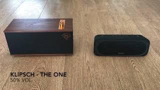 Klipsch The One vs Sony Srs Xb40 soundcheck