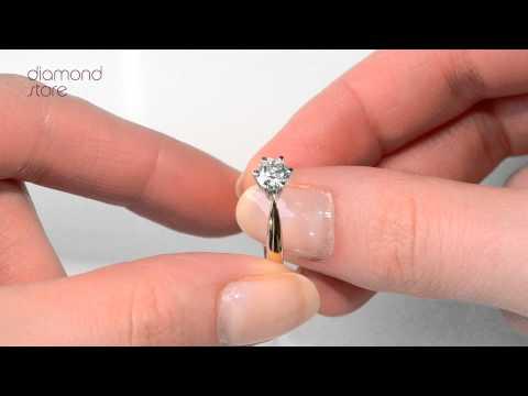 UT25-97RMA - Gorgeous High Set Chloe 18K Gold Diamond Solitaire Ring 0.75CT-H-I/I1