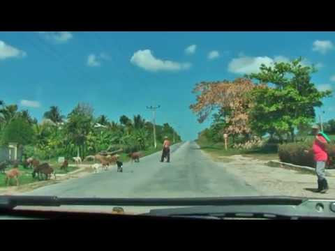 The journey from Guardalavaca to Holguin Cuba is beautiful